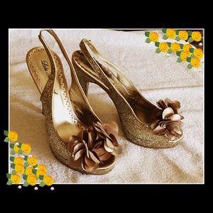 Lulu Townsend Gold Stiletto 8 1/2